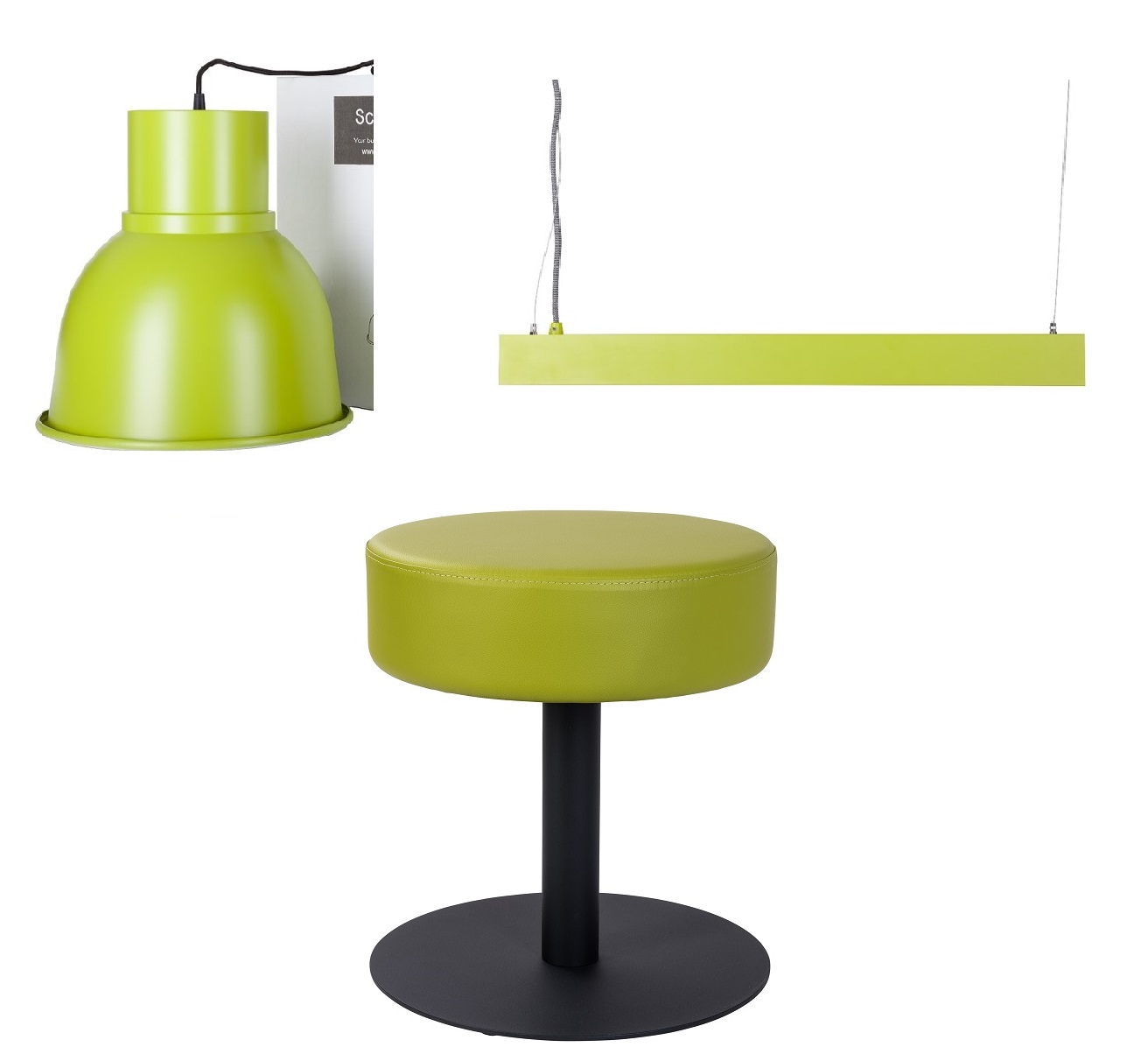 Color matched furniture and lighting